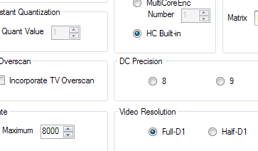 FAVC Configuration Options