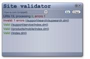 Site Validator Opera Widget