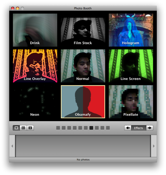 special effects for photo booth on mac