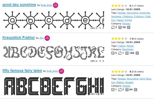 Два инструмента для создания шрифтов