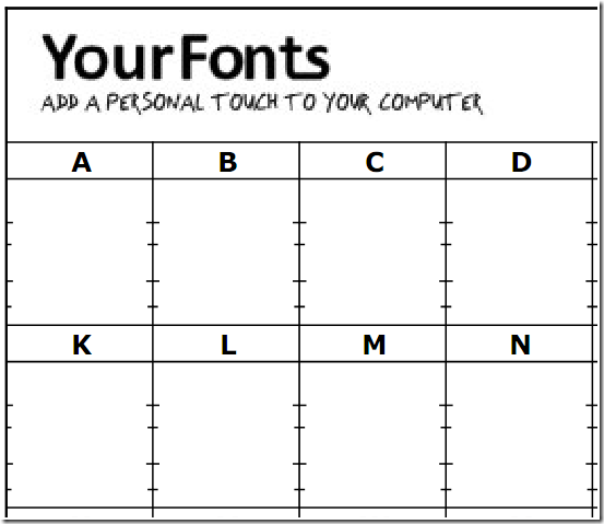 yourfontstemplateblank