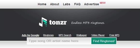 Tonzr_Homepage