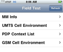 iPhone Field Test Mode