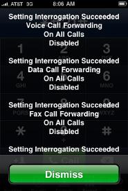 iPhone Network Call Forwarding Settings