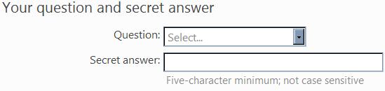 hotmailSecretQuestion