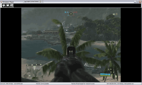 StreamMyGame Client Playing Crysis