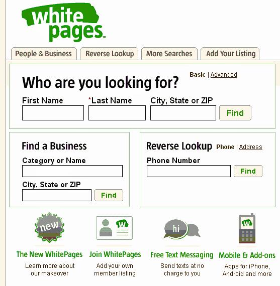 Reverse address search