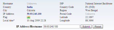 trace ip address