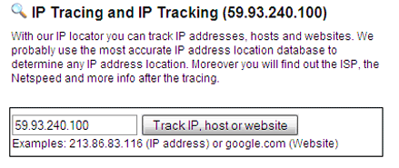 trace ip numbers