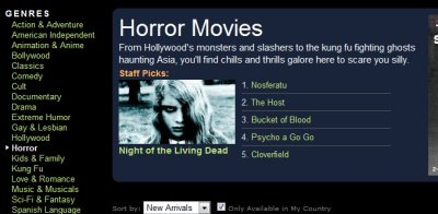 free horror movies online