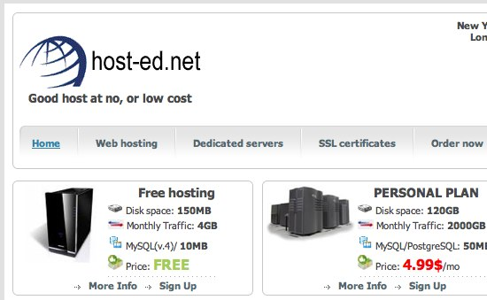 free web host hosting