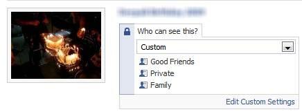 facebook privacy - Albums