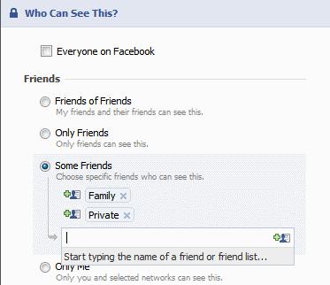 facebook privacy Customize