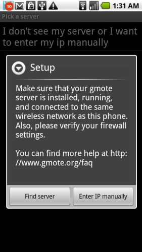 gmote 2.0 for android