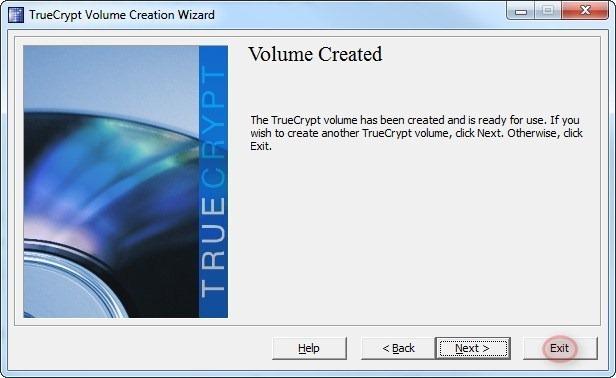 Volume created