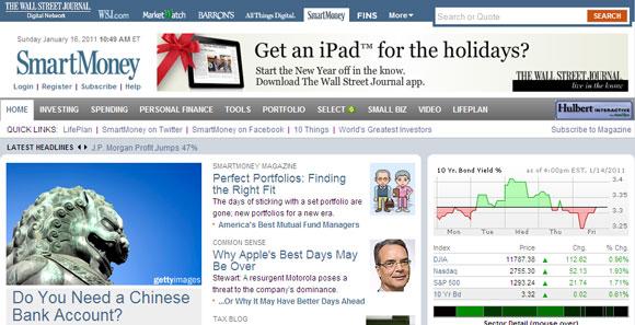 financial news websites