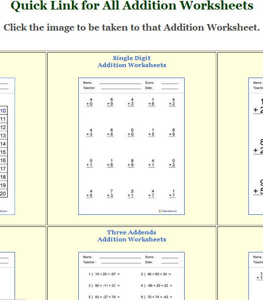 Math-Aids: Get Math Worksheets for Young Children | MakeUseOf