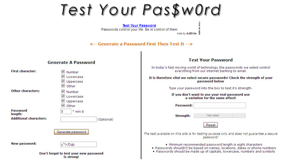 password strength tester