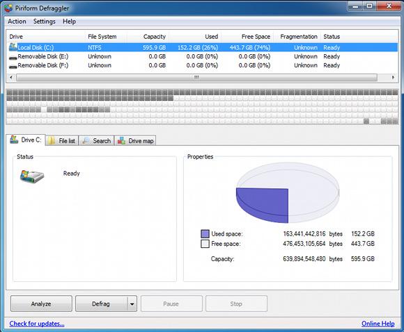 software di deframmentazione