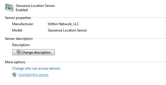 geosense windows 7