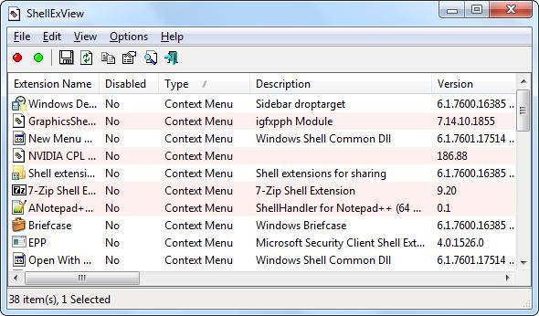 shellexview context menu entries   Make Windows 7 Faster By Removing Context Menu Entries