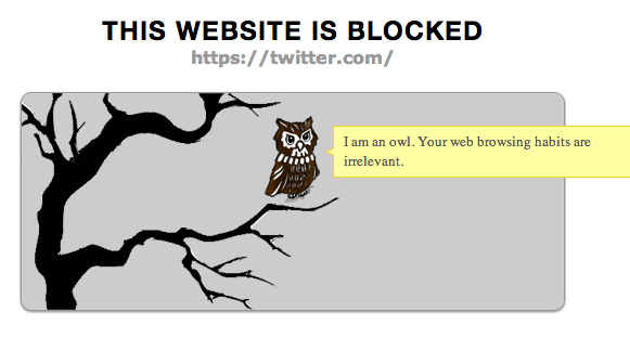 TimeWarp Redirects Distractions, Keeping You Focused [Chrome] productivityowl blocked