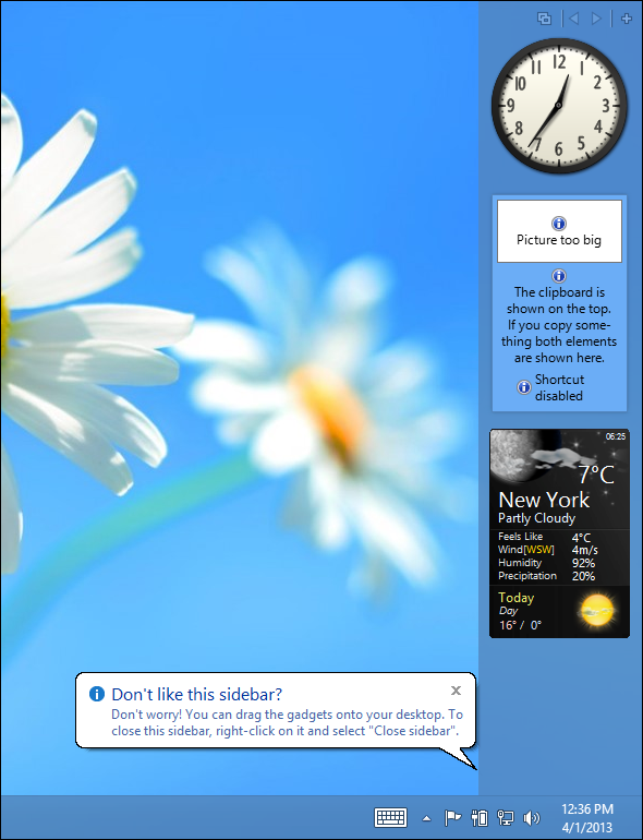 8gadgetpack on windows 8   Miss Gadgets & Widgets On Windows 8? Heres How You Can Get Them Back