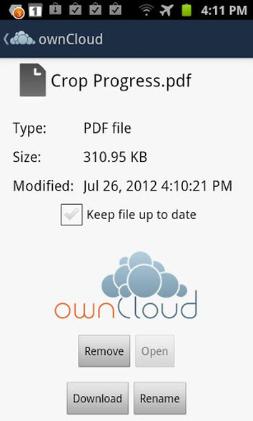 Owncloud Calendar Android