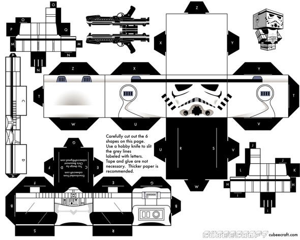 15 Star Wars Cubeecraft Paper Toy Models You Will Also Want To Make! star wars cubeecraft 10