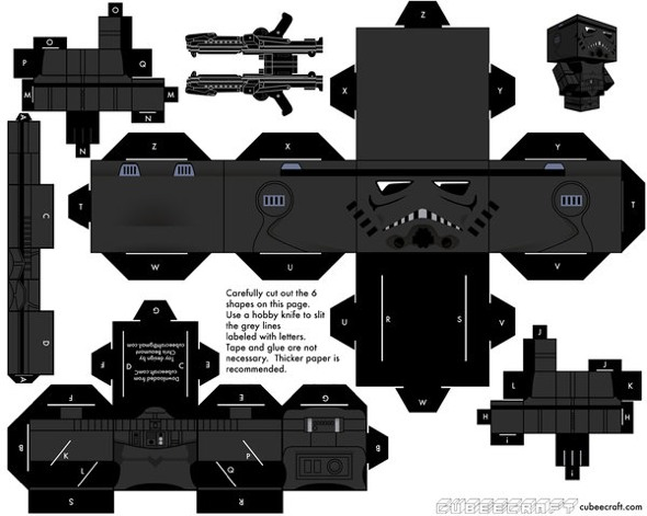 15 Star Wars Cubeecraft Paper Toy Models You Will Also Want To Make! star wars cubeecraft 11