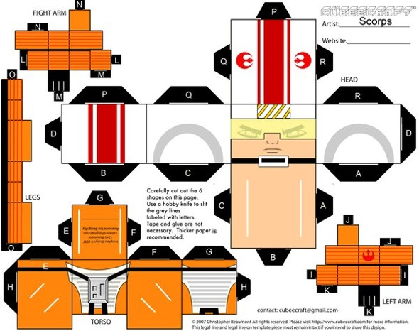 15 Star Wars Cubeecraft Paper Toy Models You Will Also Want To Make! star wars cubeecraft 12
