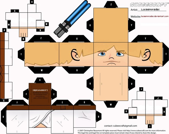 15 Star Wars Cubeecraft Paper Toy Models You Will Also Want To Make! star wars cubeecraft 14