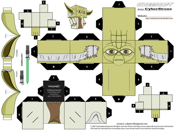 15 Star Wars Cubeecraft Paper Toy Models You Will Also Want To Make! star wars cubeecraft 2