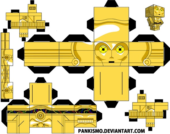 15 Star Wars Cubeecraft Paper Toy Models You Will Also Want To Make! star wars cubeecraft 3