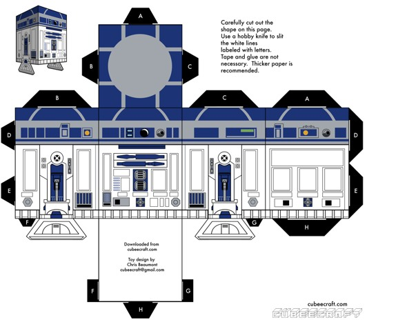 15 Star Wars Cubeecraft Paper Toy Models You Will Also Want To Make! star wars cubeecraft 6