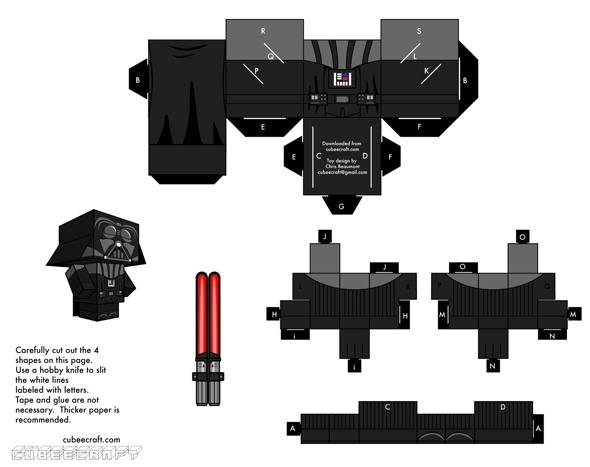 15 Star Wars Cubeecraft Paper Toy Models You Will Also Want To Make! star wars cubeecraft 7