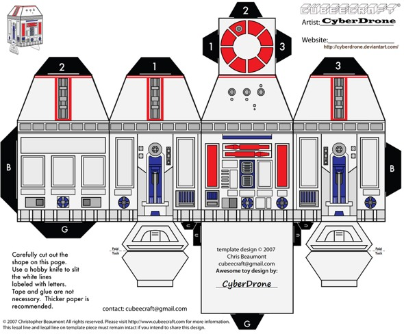 15 Star Wars Cubeecraft Paper Toy Models You Will Also Want To Make! star wars cubeecraft 8
