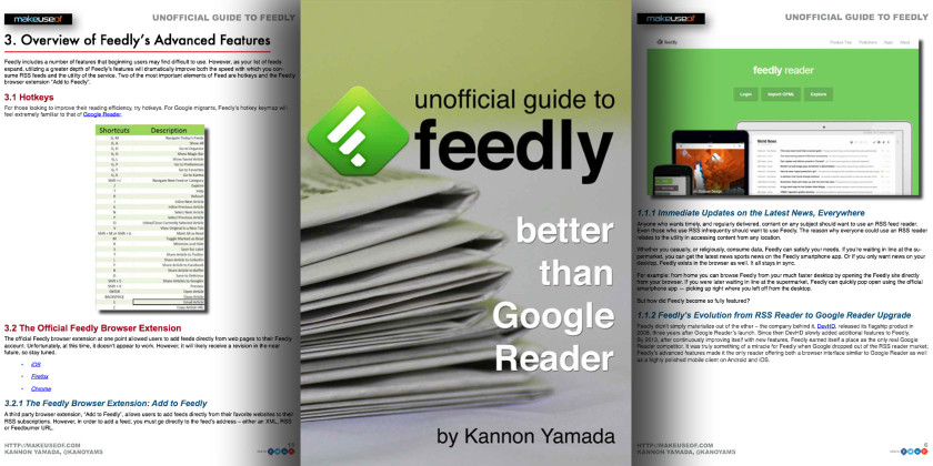 FREE EBOOK: Unofficial Guide To Feedly, Better Than Google Reader
