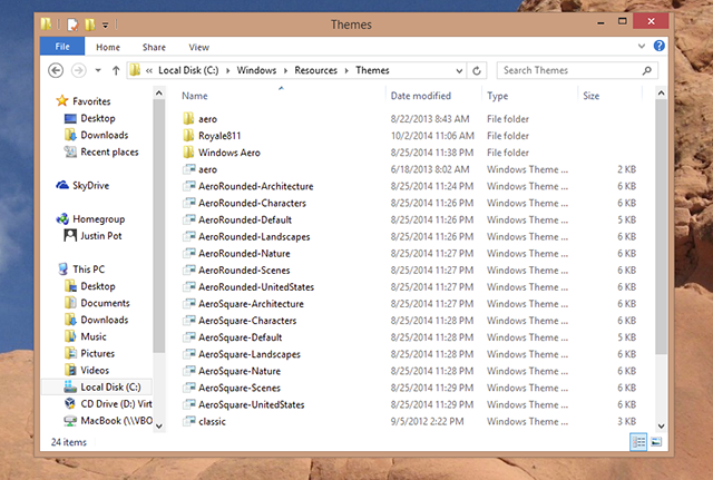 skin windows 8 theme folder   How To Make Windows 8 or 8.1 Look Like Windows 7 or XP