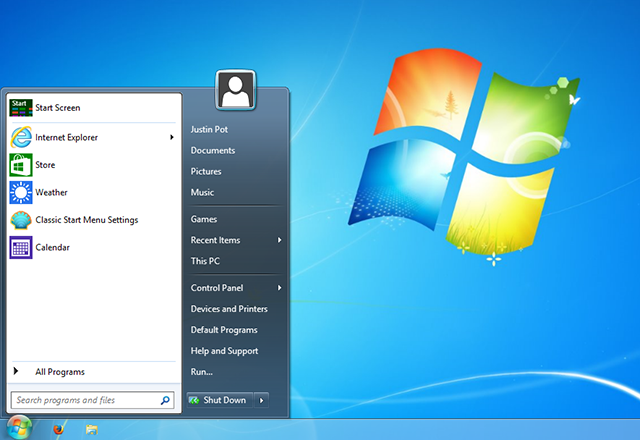 windows 8 looks like 7 start   How To Make Windows 8 or 8.1 Look Like Windows 7 or XP
