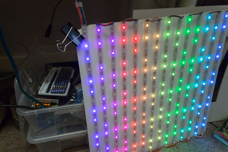 Weekend Project Build A Giant Led Pixel Display Makeuseof