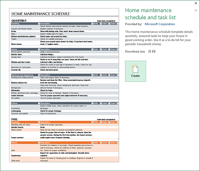 Home Maint Excel?x58476 an excel template for every occasion on home