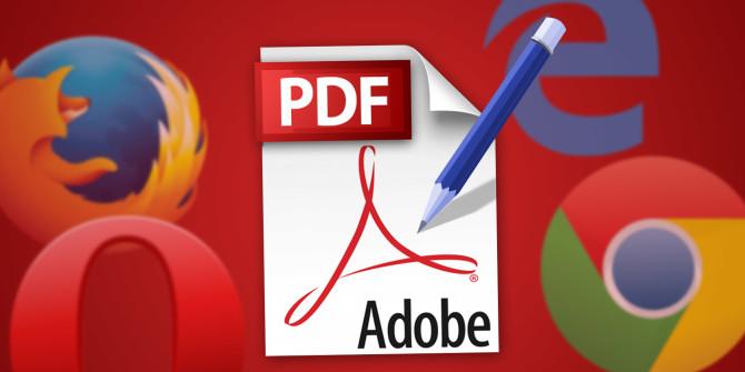 Online pdf editing service