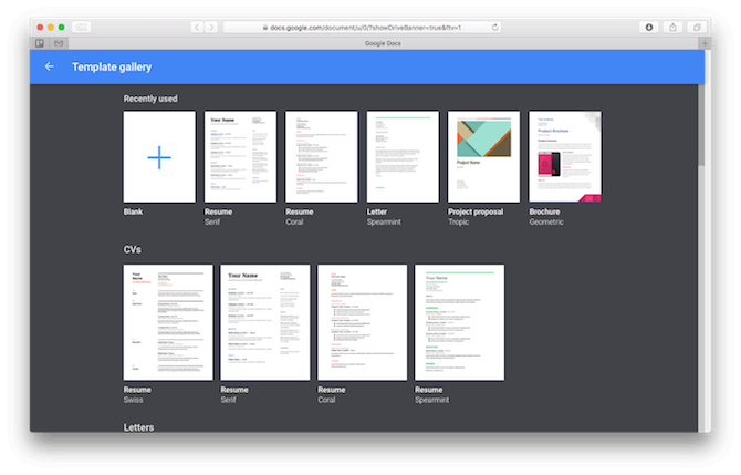 mac office alternatives google docs