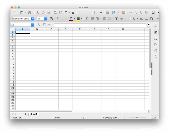 mac office alternatives libreoffice spreadsheet