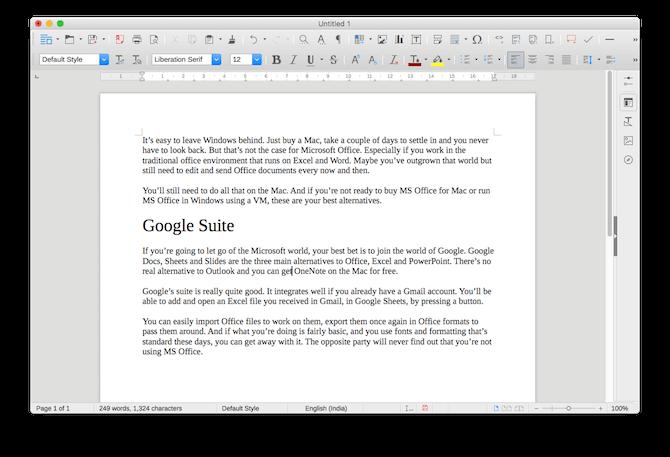 mac office alternatives libreoffice writer
