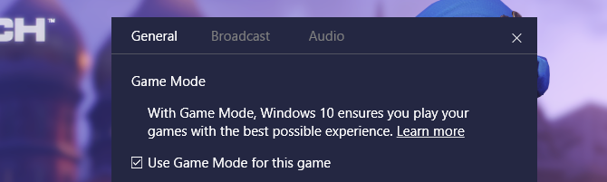 how to activate win 10 game mode