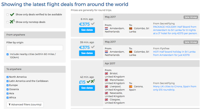 flights all the flight deals travel