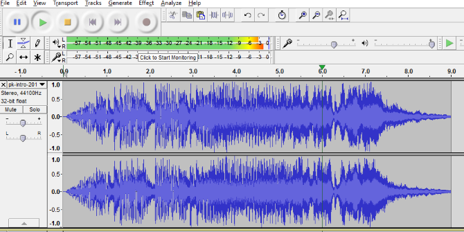 audacity streamline intro