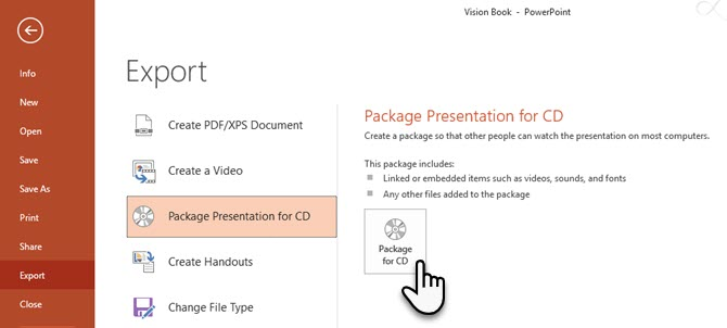 PowerPoint Package for CD